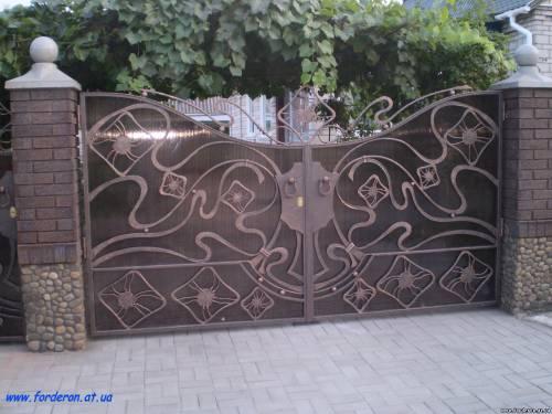 Кованые ворота, калитки